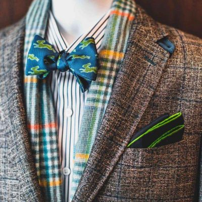 green and aqua highlights chicago designer custom suit