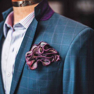 gentleman's cooperative purple highlights chicago custom suit
